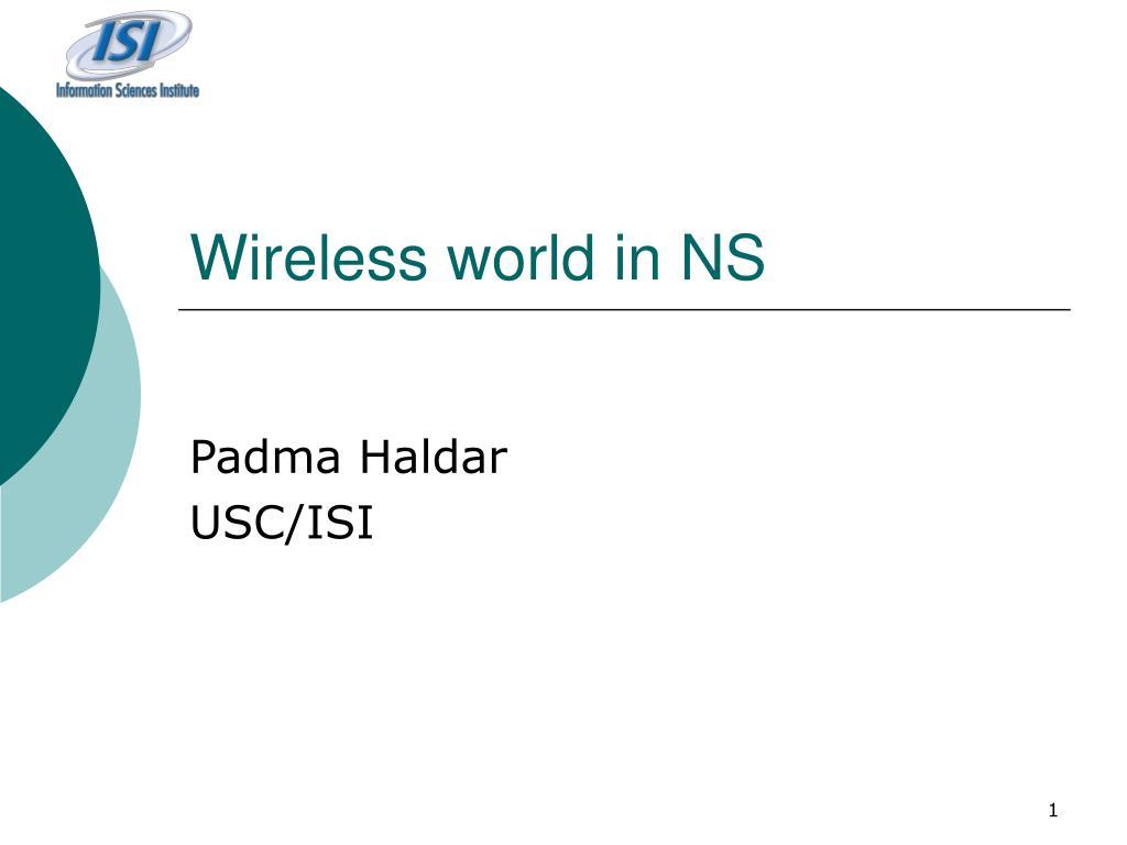 wireless world in ns l.