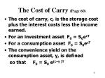the cost of carry page 60
