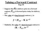 valuing a forward contract page 50