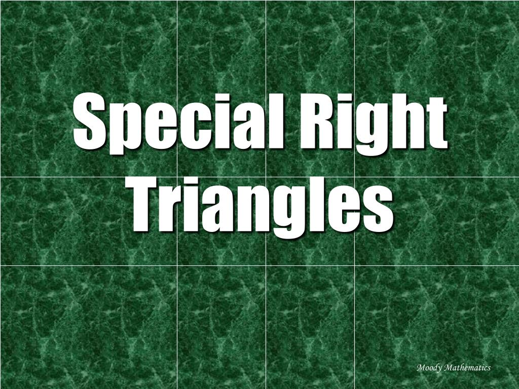 special right triangles l.