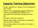 capacity training objectives32