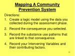 mapping a community prevention system