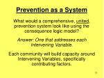prevention as a system15