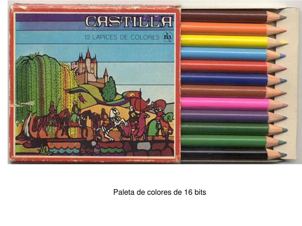 Paleta de colores de 16 bits