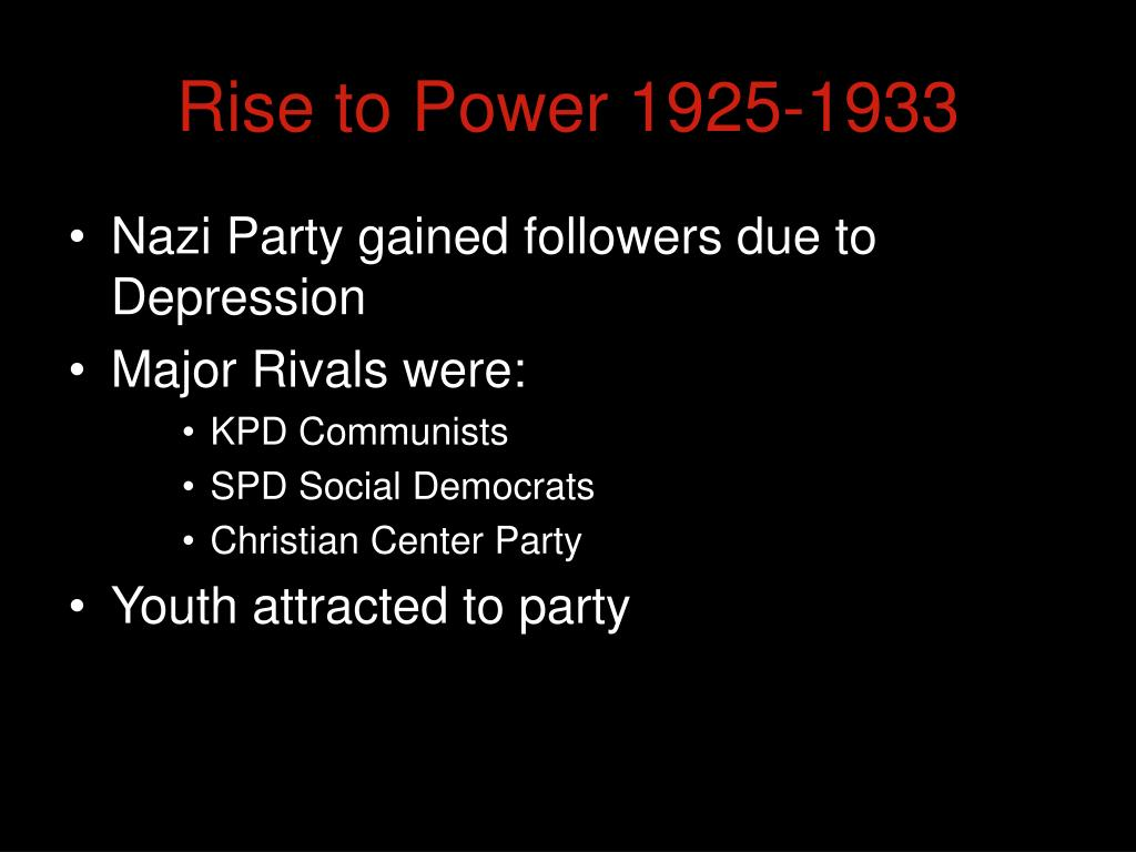 rise to power 1925 1933 l.