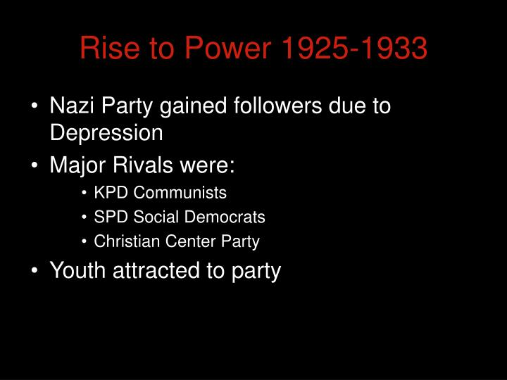 hitlers rise to power was due
