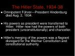the hitler state 1934 38