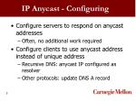 ip anycast configuring