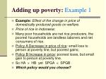 adding up poverty example 1