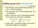 adding up poverty poverty gap8