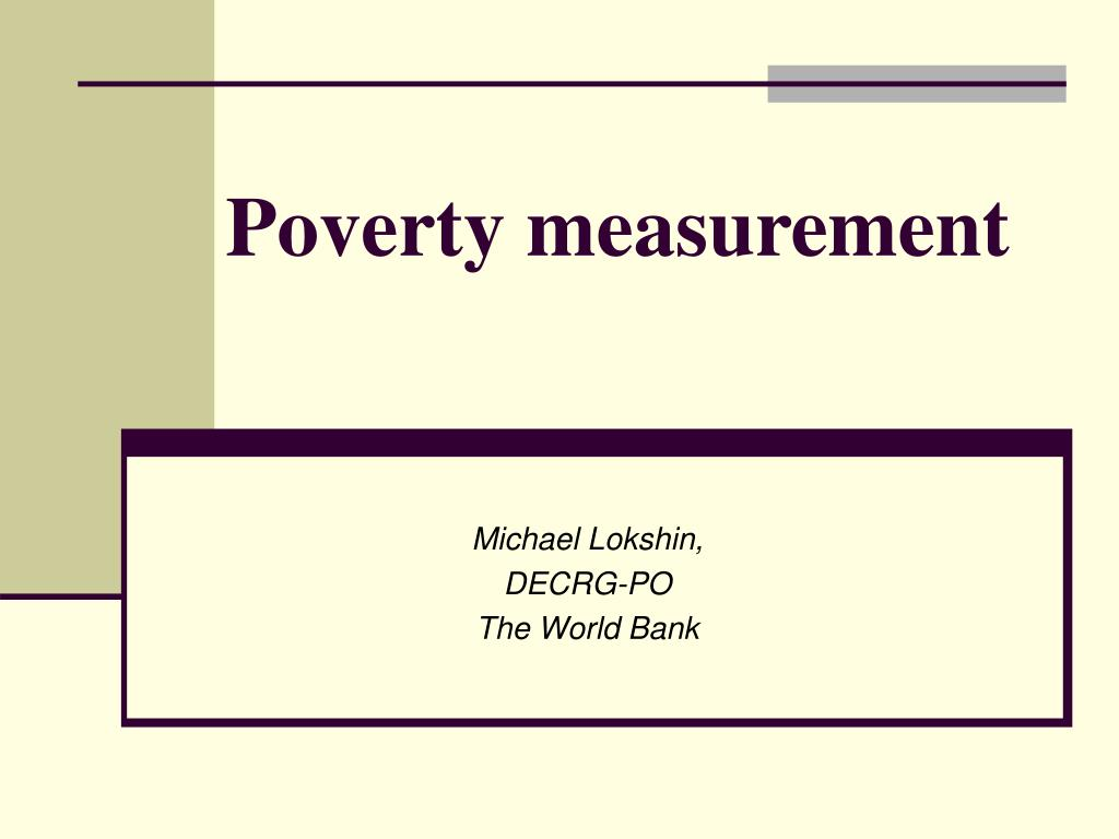 poverty measurement l.