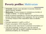 poverty profiles multivariate
