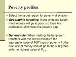 poverty profiles