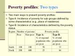 poverty profiles two types