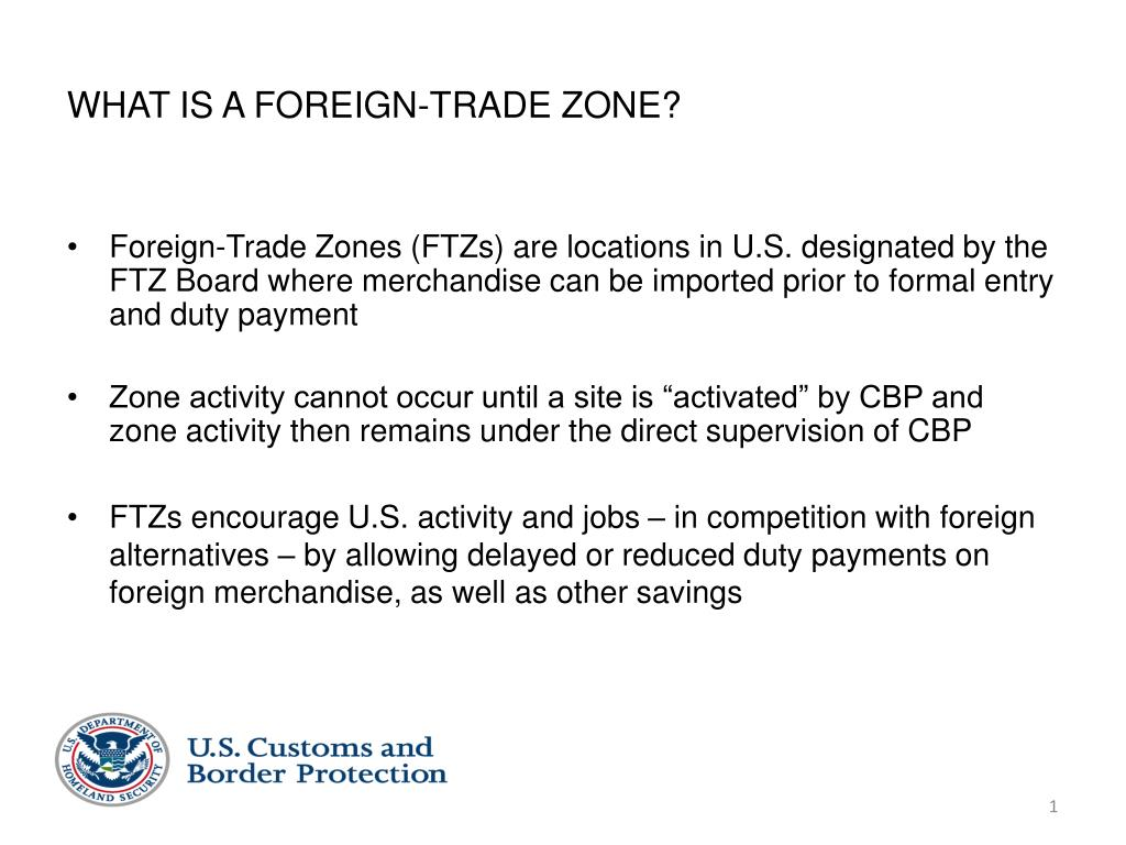 what is a foreign trade zone l.