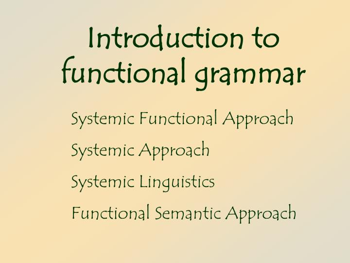 introduction to functional grammar n.