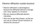 electron diffraction crystal structure