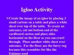 igloo activity