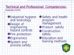 technical and professional competencies examples cont d