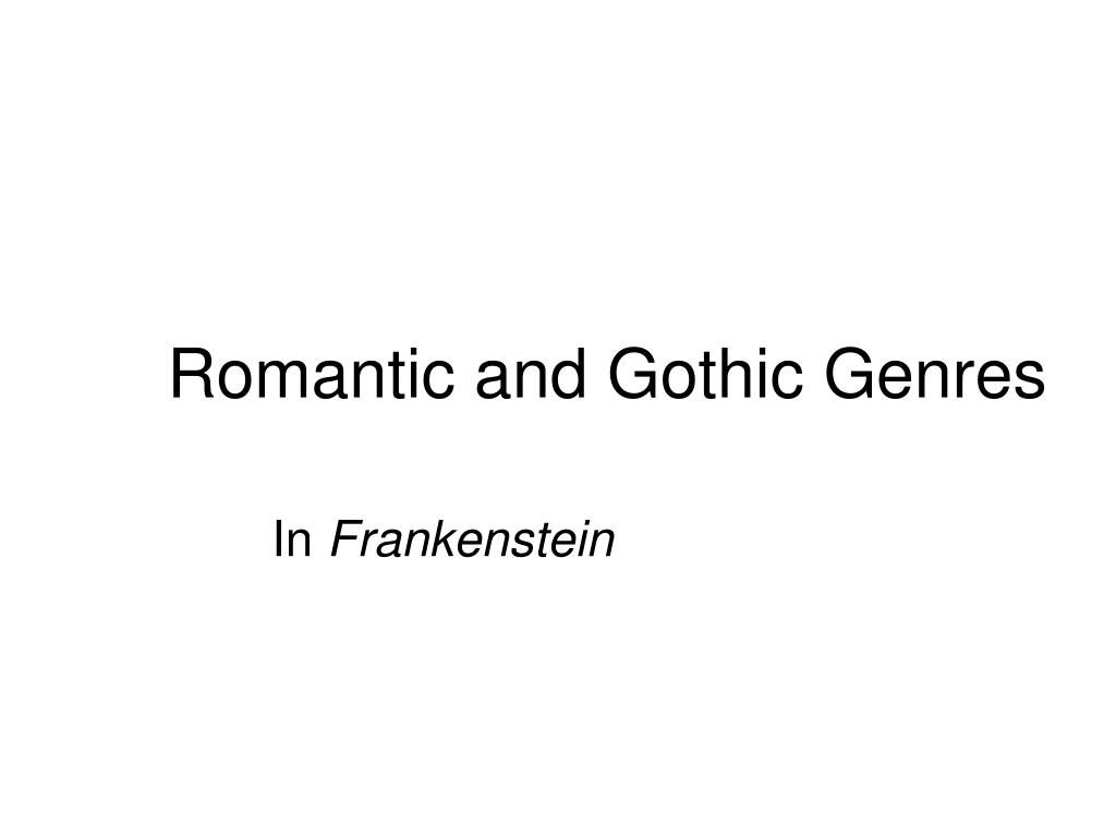 romantic and gothic genres l.