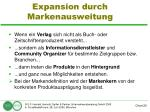 expansion durch markenausweitung29