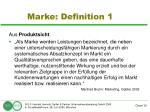 marke definition 1