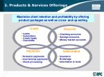 2 products services offerings