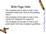 web page links