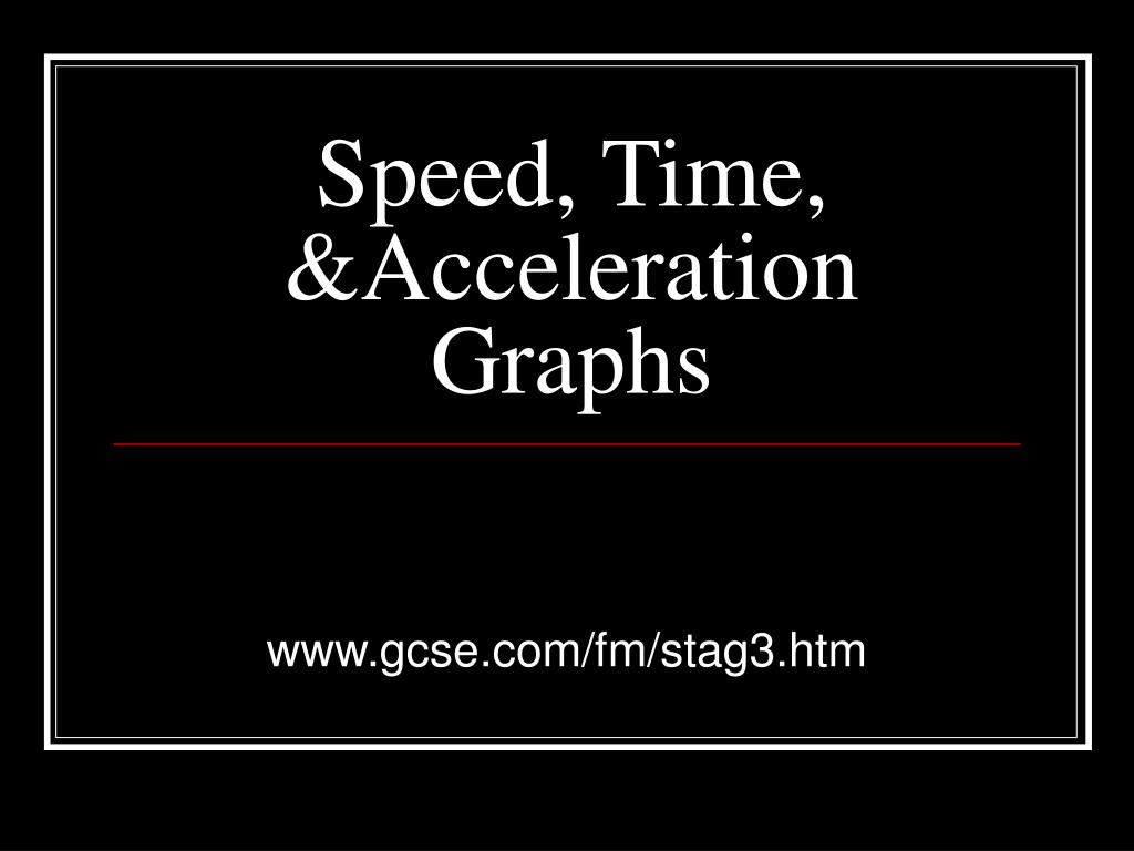 speed time acceleration graphs l.
