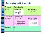 descriptive statistics cont