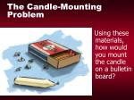 the candle mounting problem