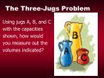 the three jugs problem