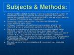 subjects methods