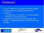 checksums