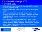 filtrado de exchange 2003 y outlook 2003