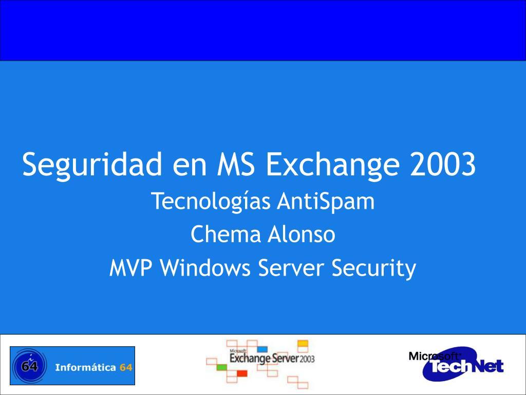 seguridad en ms exchange 2003 l.