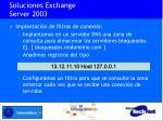 soluciones exchange server 200310