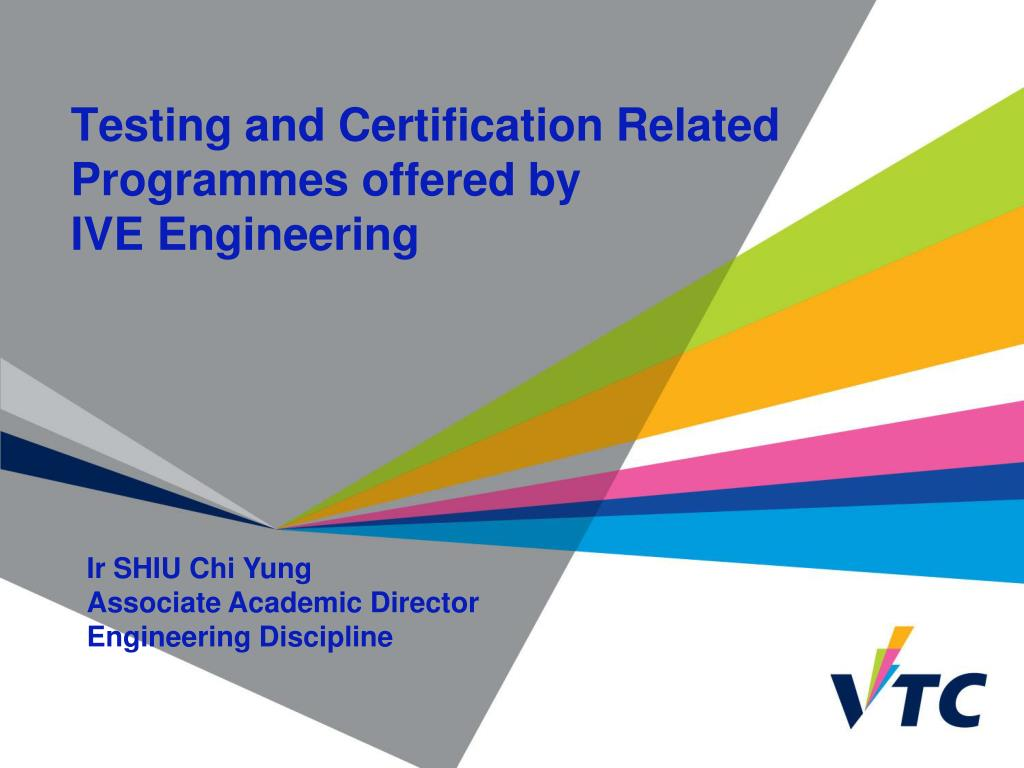 testing and certification related programmes offered by ive engineering l.