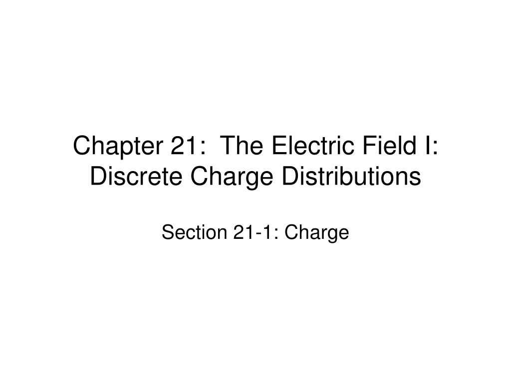 chapter 21 the electric field i discrete charge distributions l.