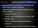 analyzing the problems 2