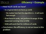 efficiency example