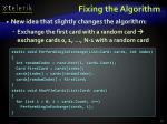 fixing the algorithm