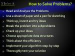 how to solve problems