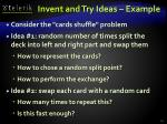 invent and try ideas example