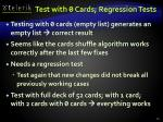 test with 0 cards regression tests