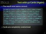 test with 52 cards again