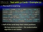 test with 52 cards example 2