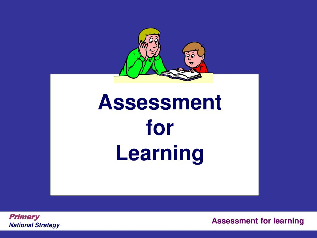 assessment for learning l.