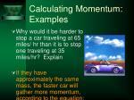 calculating momentum examples37