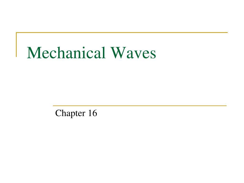 mechanical waves l.